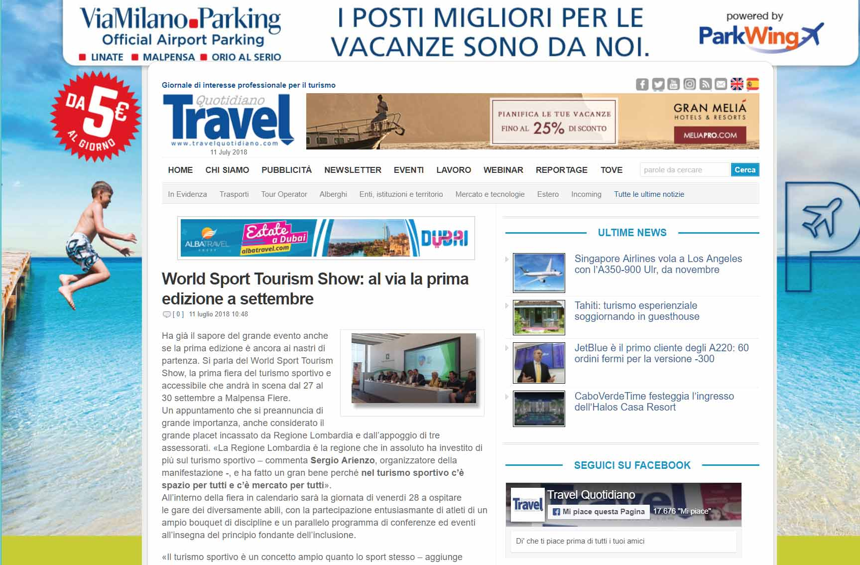 Travel Quotidiano 11/7/2018